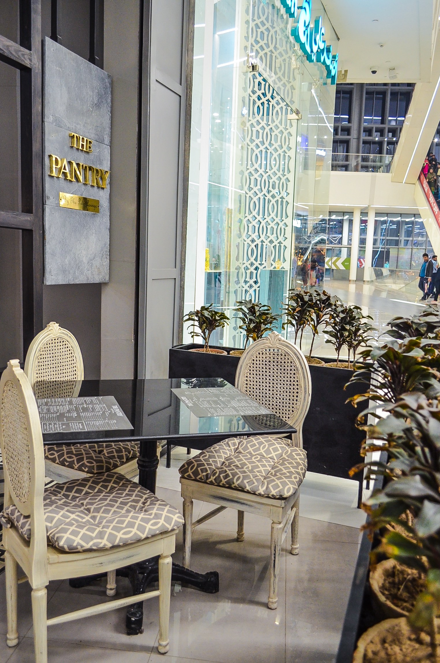 Pretty 'outdoor' seating area at The Pantry by The Polo Lounge (Emporium Mall) for times when you want to enjoy your meal and watch the world go by